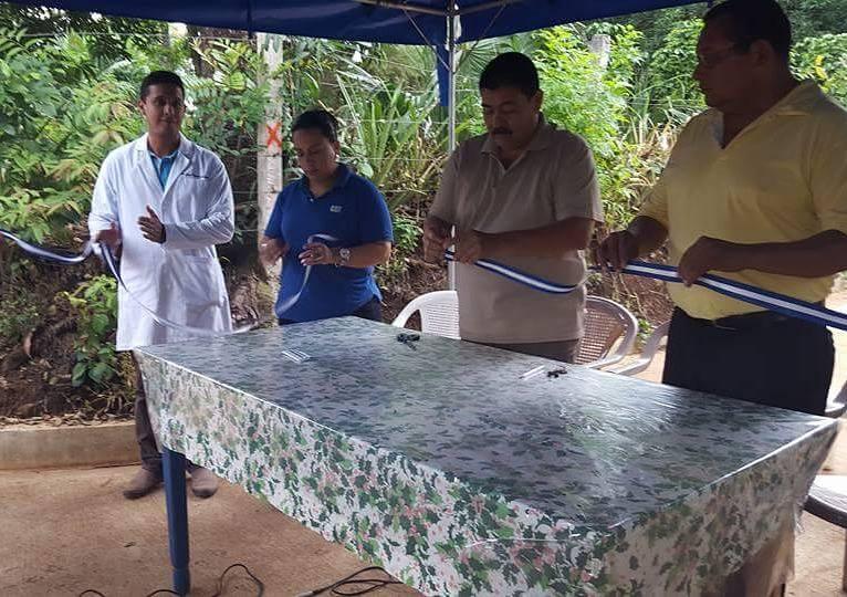 Alcaldía de Chalchuapa inauguró  proyecto de pavimentación en calle del cantón Galeano