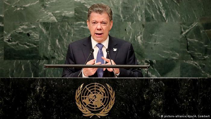 """Presidente de Colombia a la ONU: """"La guerra ha terminado"""""""