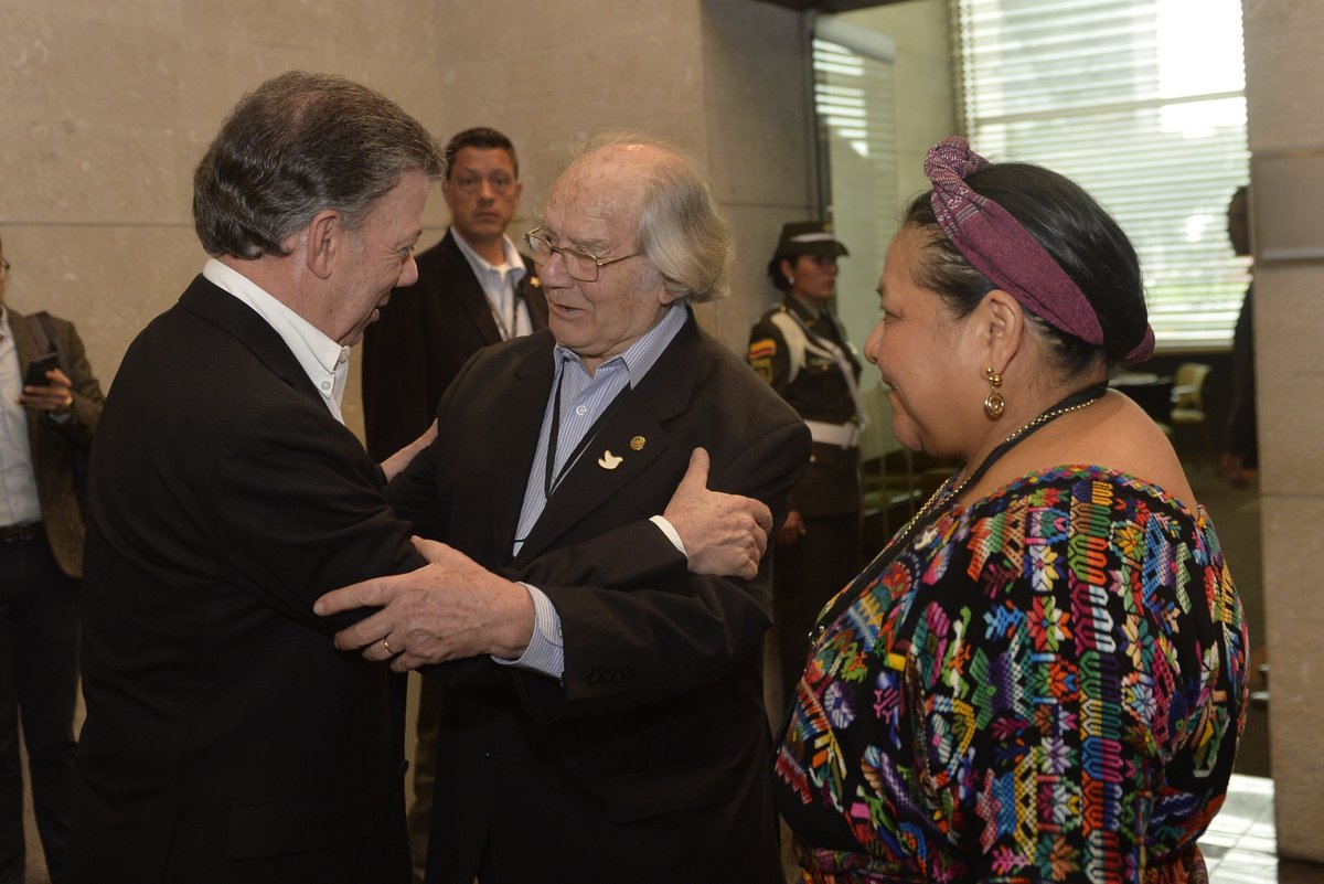 Premio Nobel de la Paz 2016, para el presidente de Colombia, Juan Manuel Santos