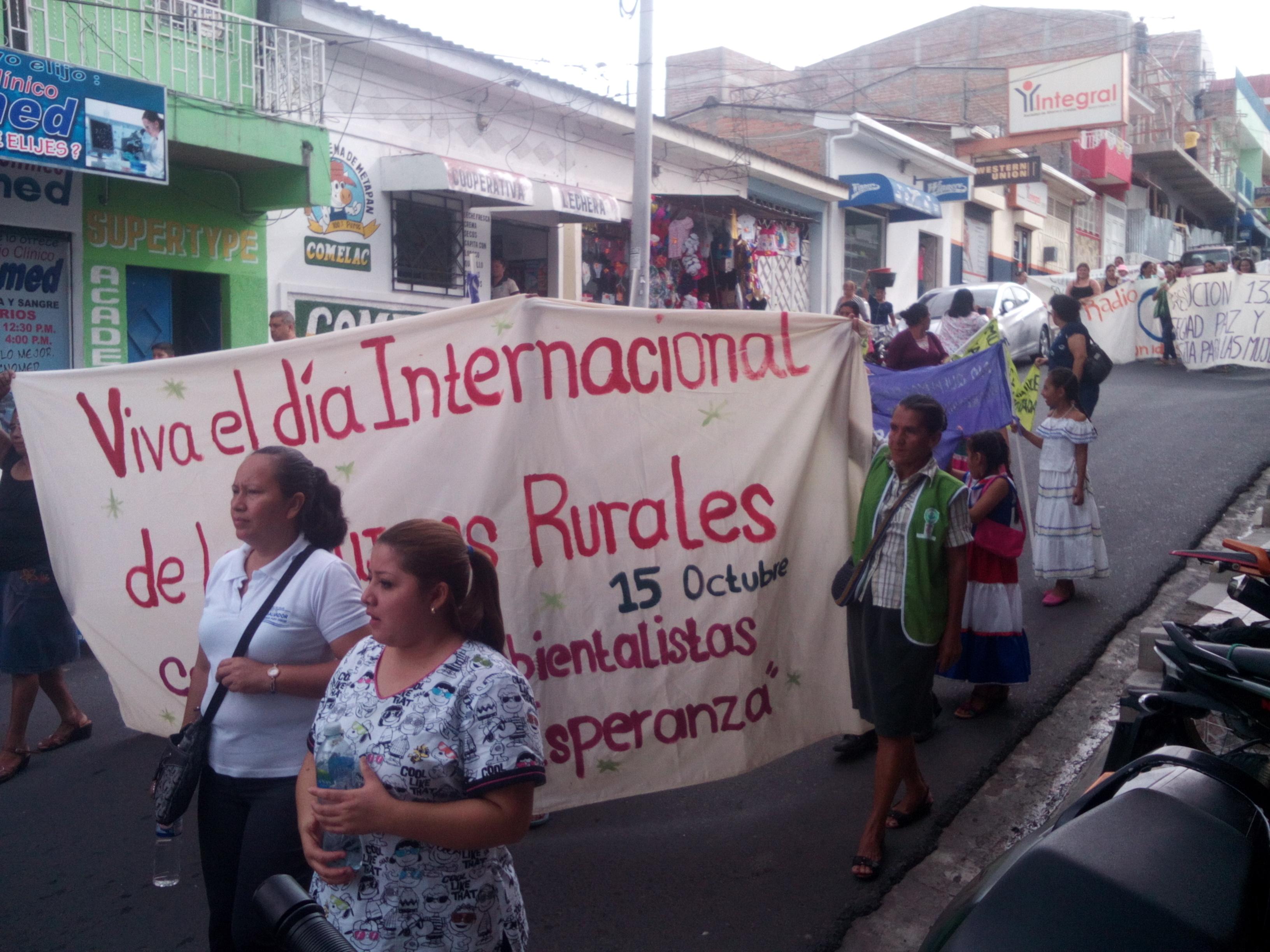 Comunidades de Metapán Celebran Día Internacional de la Mujer Rural