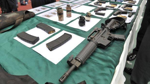 Personal policial incautó varias armas de fuego en diferentes puntos del occidente del país