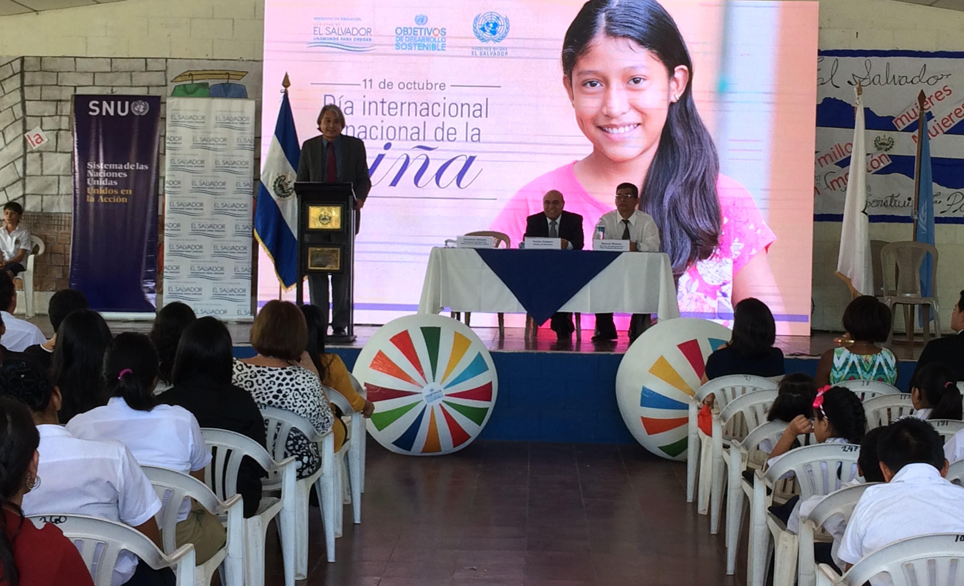 Más de 5,000 centros escolares reflexionan sobre el papel protagónico de las niñas para el  cumplimiento de los Objetivos de Desarrollo Sostenible