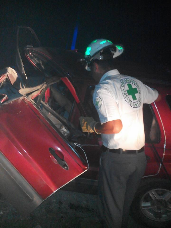 Accidente vial en carretera a Chalchuapa deja una persona fallecida