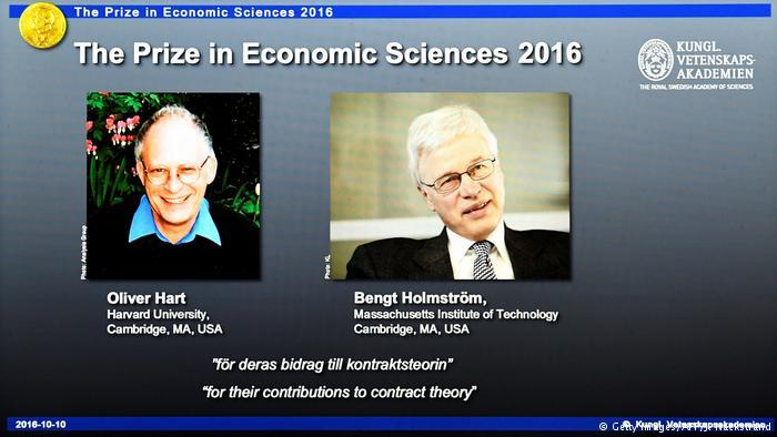 Nobel de Economía para Oliver Hart y Bengt Holmström