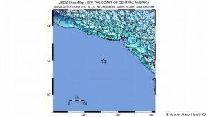 Sismo de 7.2 cuyo epicentro fueron en las costas de Usulutan, alerta Centroamerica
