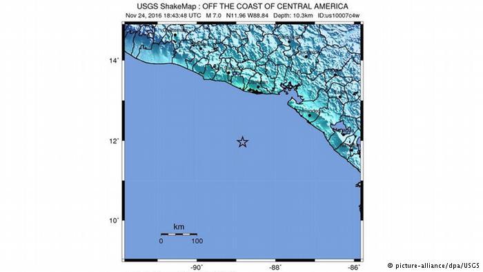 Sismo frente a las costas de Usulután alcanza 7.2