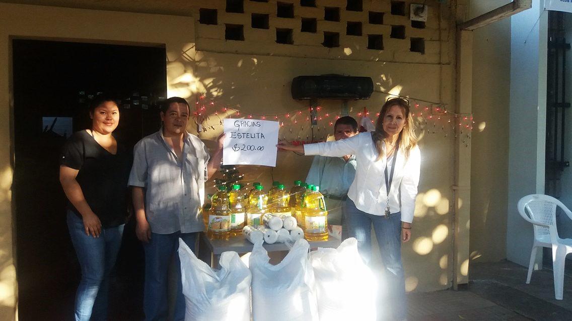 Santaneca envía donativo para Asilo San José