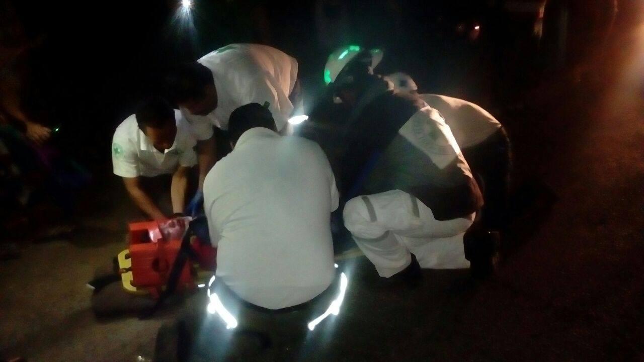 Cruz Verde Seccional Santa Ana, atiende victima en accidente de tránsito sobre el kilómetro 64 ½