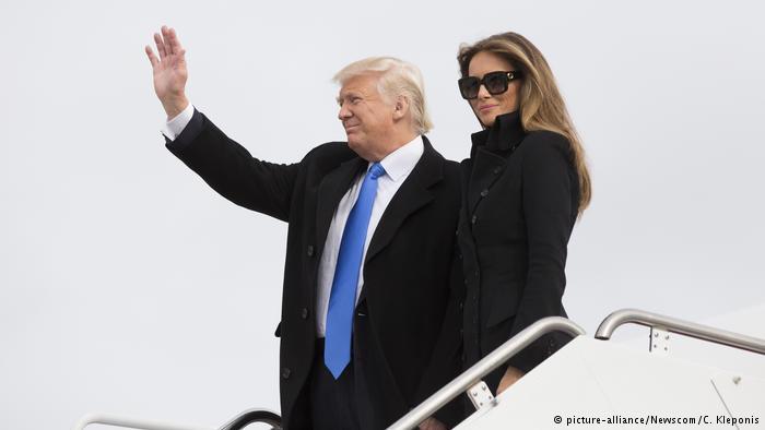 Trump llega a Washington para toma de posesión