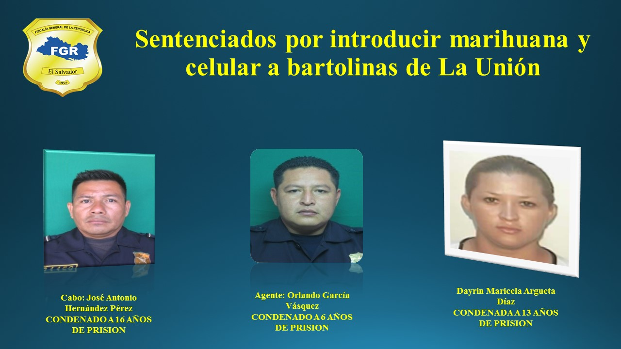 Cabo, agente y mujer de un marero, condenados por introducir droga y teléfono a bartolinas