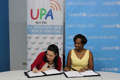 UNICEF y Radio UPA trabajarán juntos en la promoción de los  derechos de la niñez y adolescencia