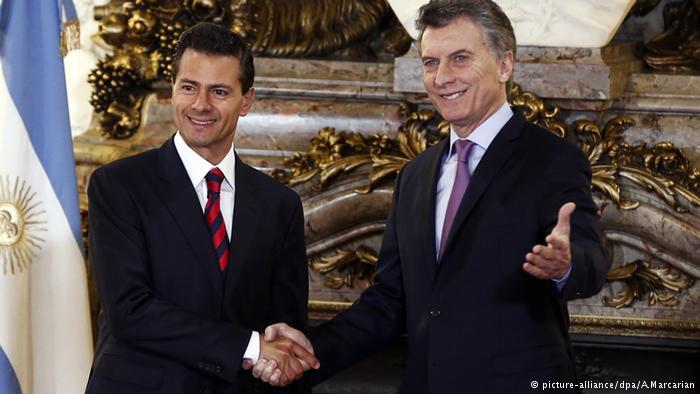 Peña Nieto agradece a Macri su apoyo frente a Trump