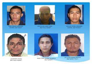 FGR Sonsonate logra penas de 40 a 70 años de prisión contra seis pandilleros de la MS por Homicidio