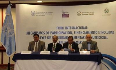 Realizan foro internacional para abordar aspectos relacionados a las leyes de seguridad alimentaria y nutricional en Latinoamérica