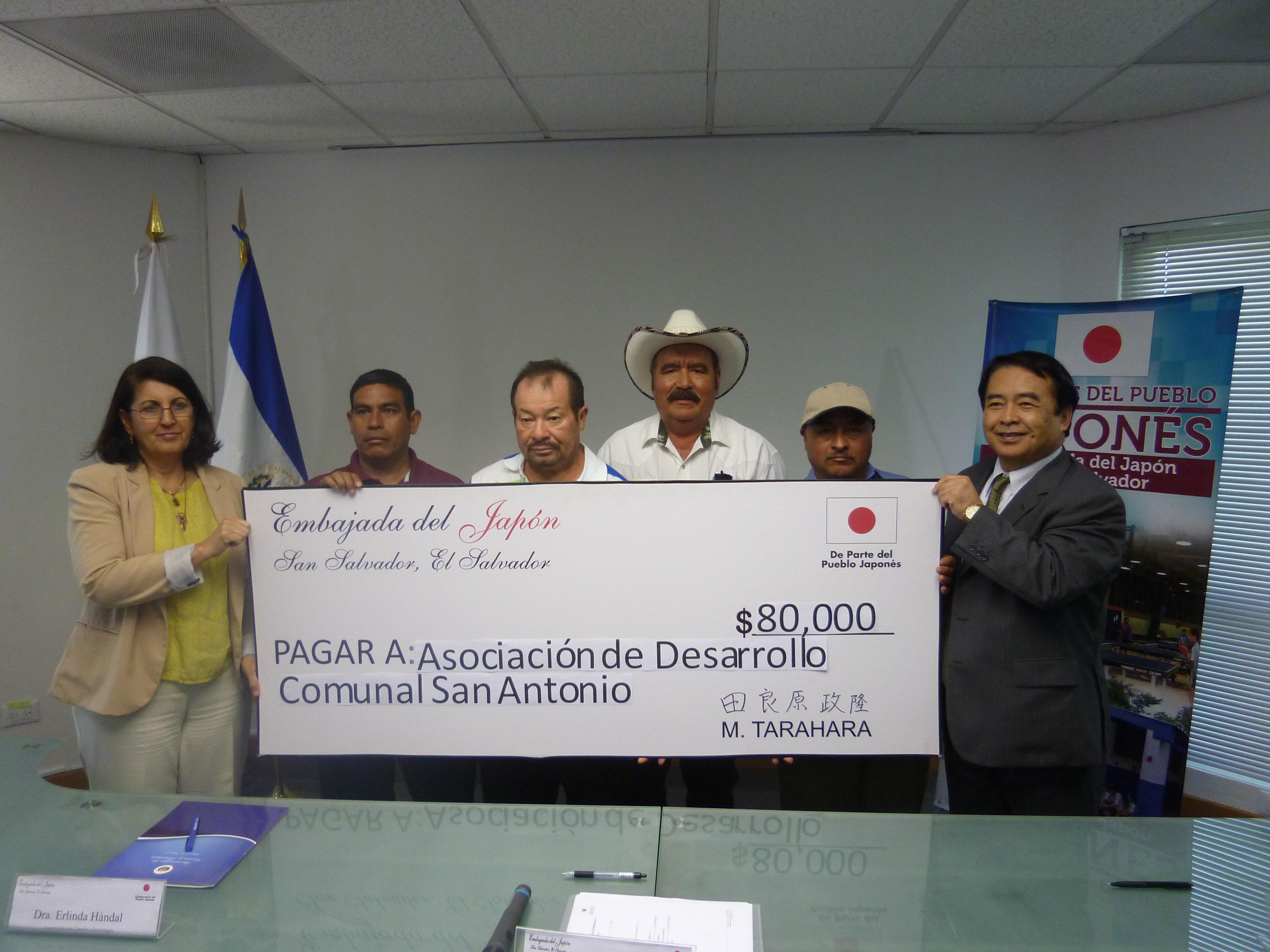 Gobierno de Japón colabora en obras de desarrollo en El Salvador