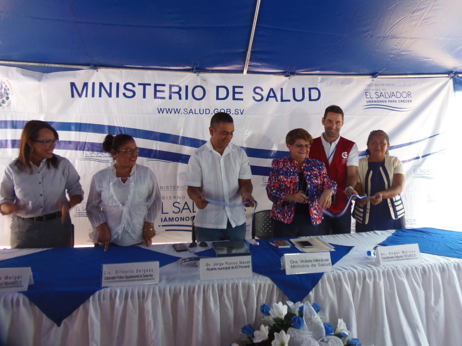 Inauguran Unidad Comunitaria de Salud Familiar en El Cerrón