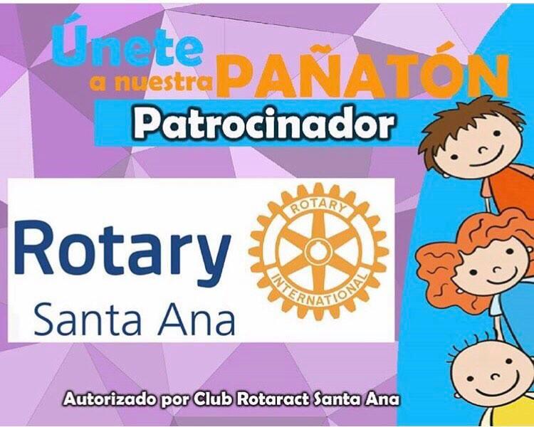 """Únete a la primera """"Pañatón"""" del Club Rotario Santa Ana"""