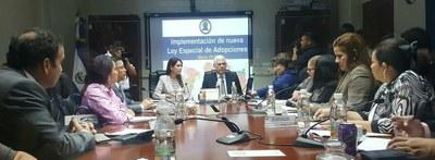 Comisión de la Familia conoce necesidades financieras para implementar la Ley Especial de Adopciones