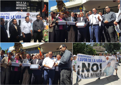 Grupos parlamentarios respaldan petición para prohibir la minería metálica en el país
