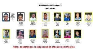 Condena de 12 años de cárcel deberán cumplir 15 pandilleros de la MS por Extorsión en Santa Ana