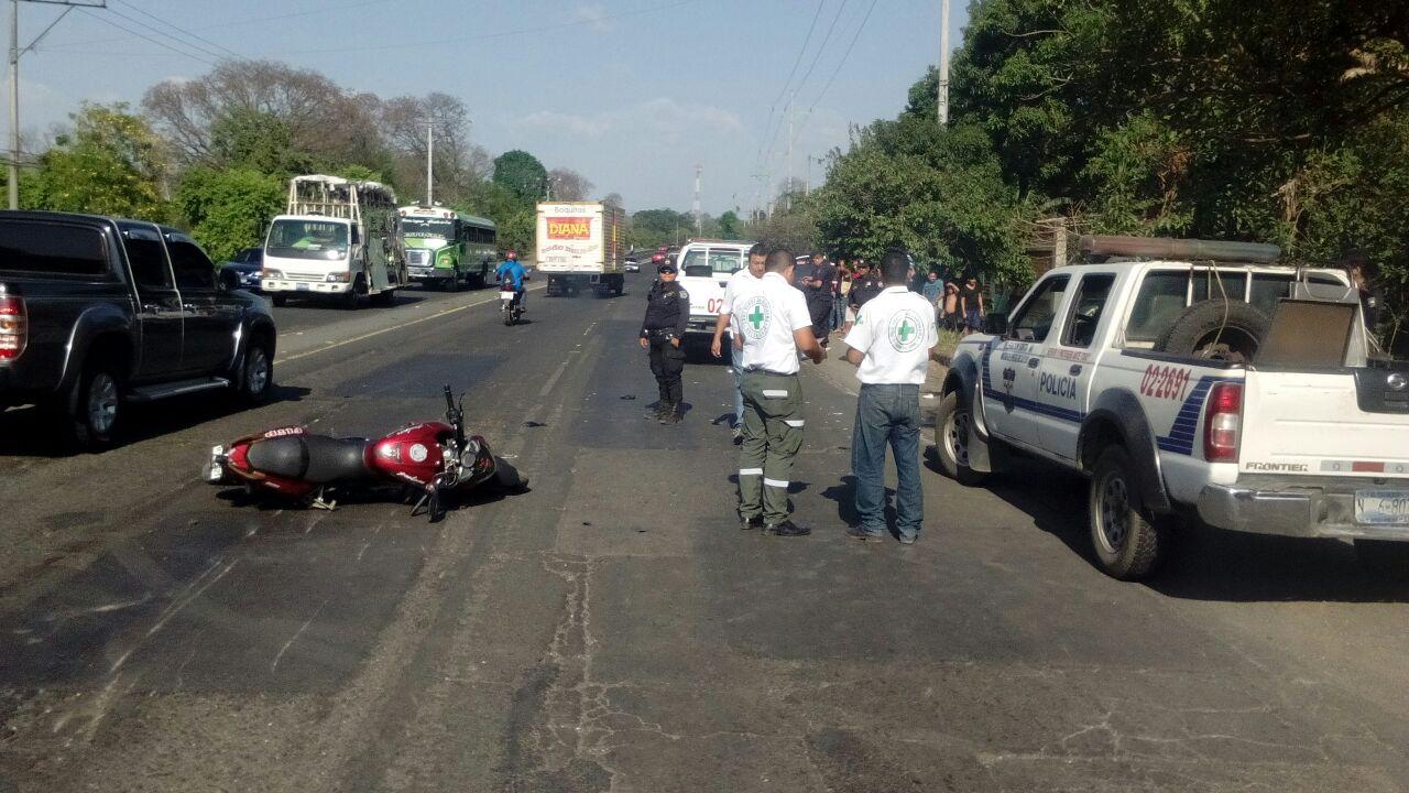 Accidente carretera a Chalchuapa deja 4 lesionados