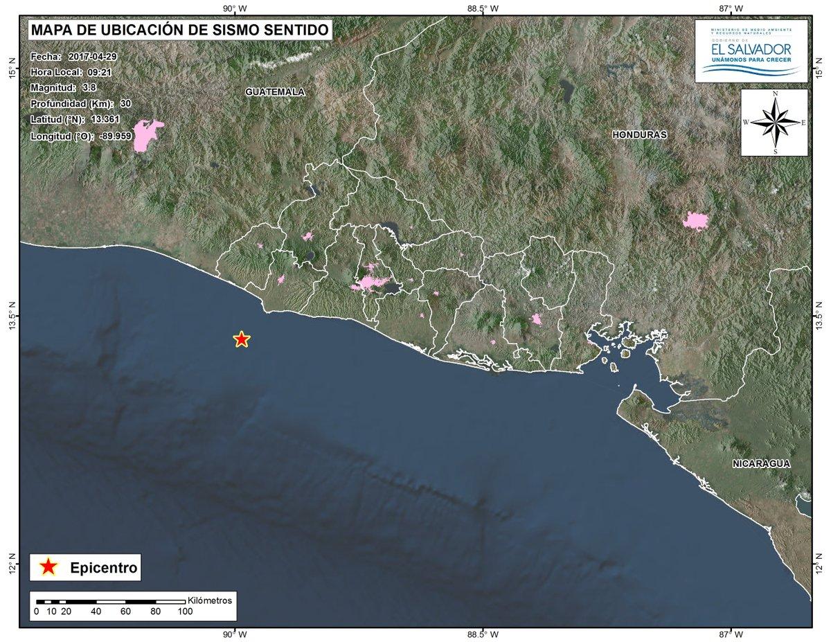 Mas de 36 horas sin actividad sísmica sentida en el Área Metropolitana de San Salvador (AMSS)