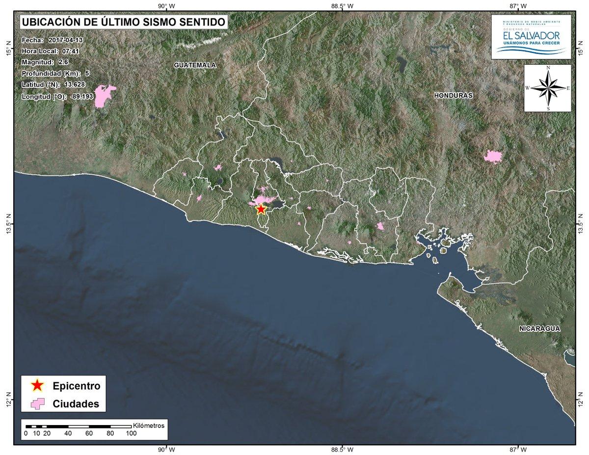 Informe sobre enjambres sísmico en el país