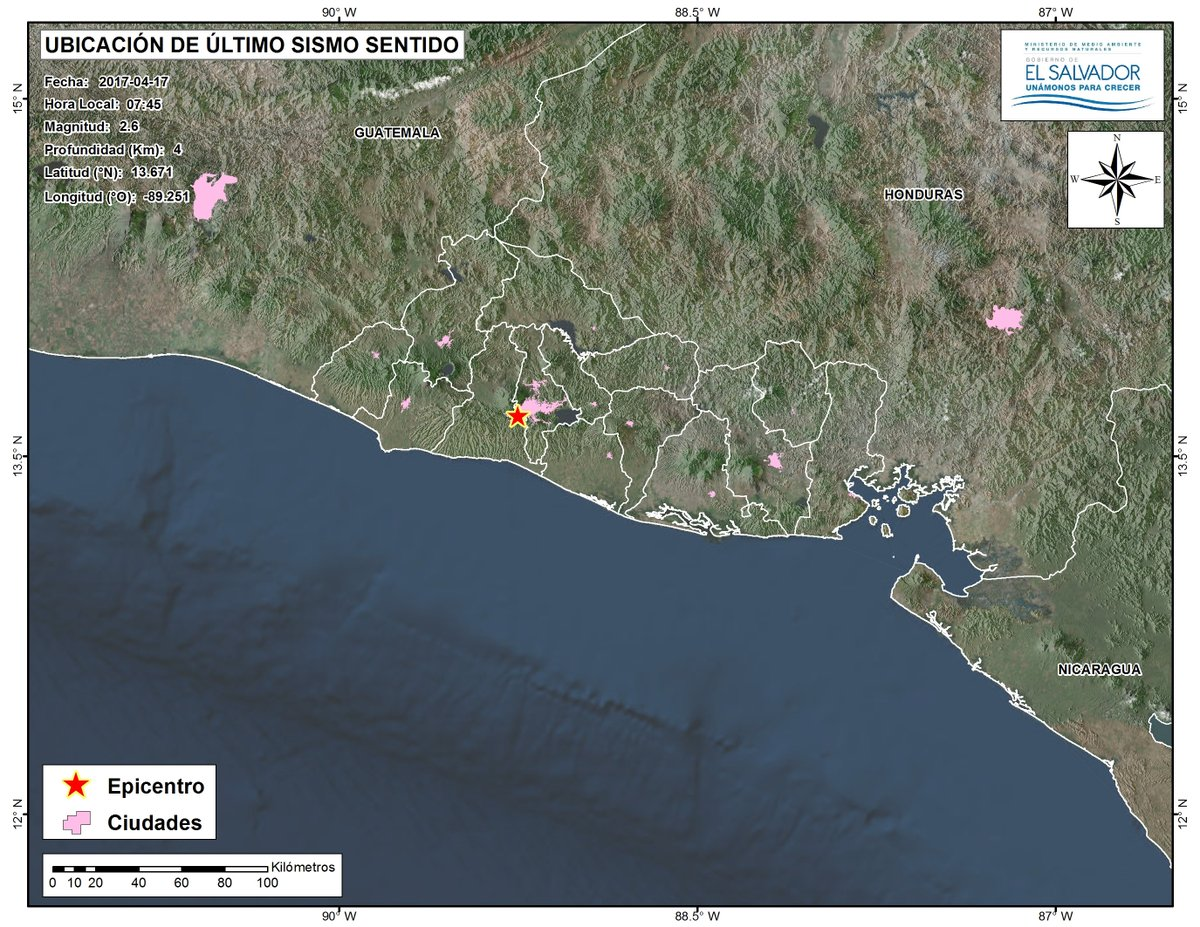 Continúan registrándose sismos de baja magnitud en el AMSS.