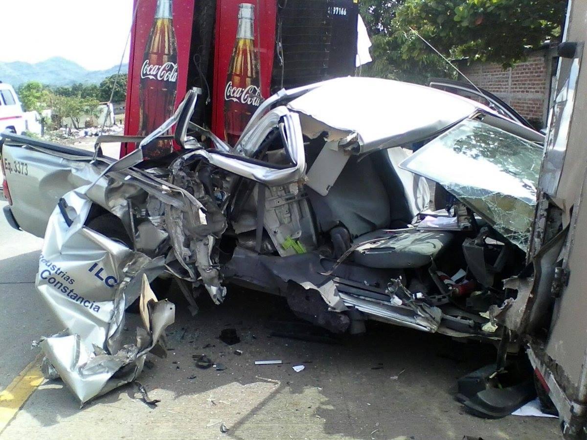 Accidente carretera a Metapán deja una persona lesionada
