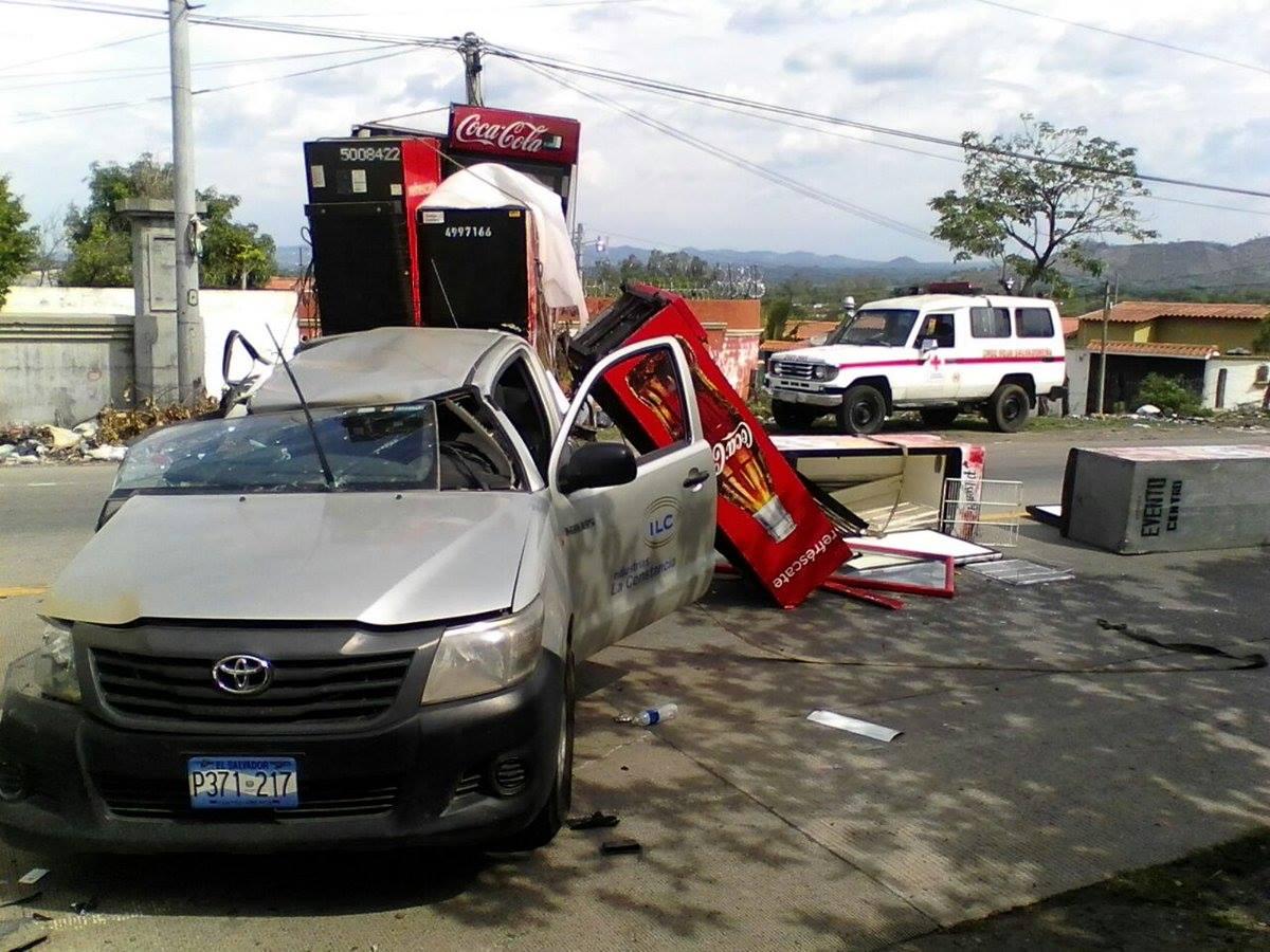 Dos víctimas dejo un accidente de tránsito en la carretera a Metapán