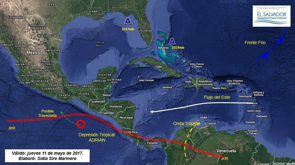 Ciclón Adrián se debilita a depresión tropical