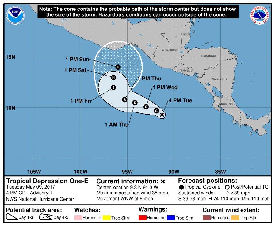 Protección Civil alerta sobre depresión tropical en costas salvadoreñas
