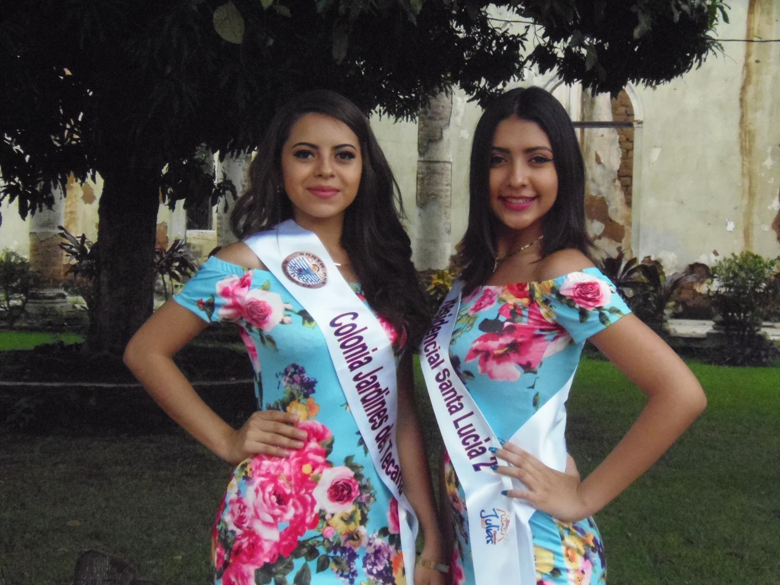 Señoritas se preparan para la elección de la nueva Reina de las Comunidades