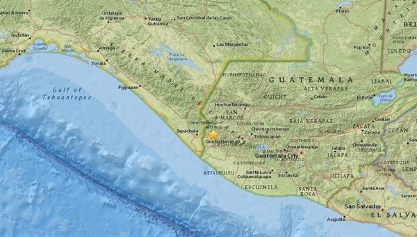 Sismo de magnitud 6,9 sacude Guatemala