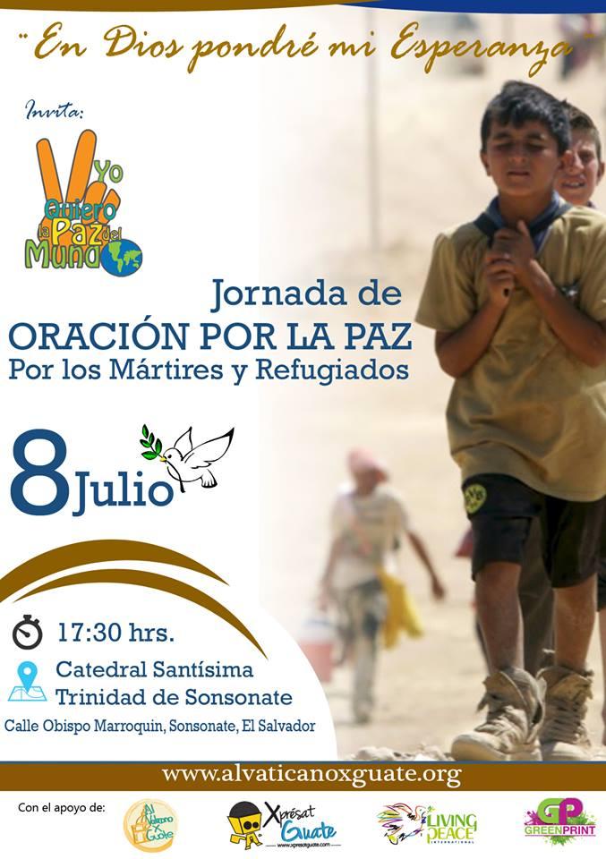 Se preparan para la III Jornada de Oración por la Paz en Sonsonate