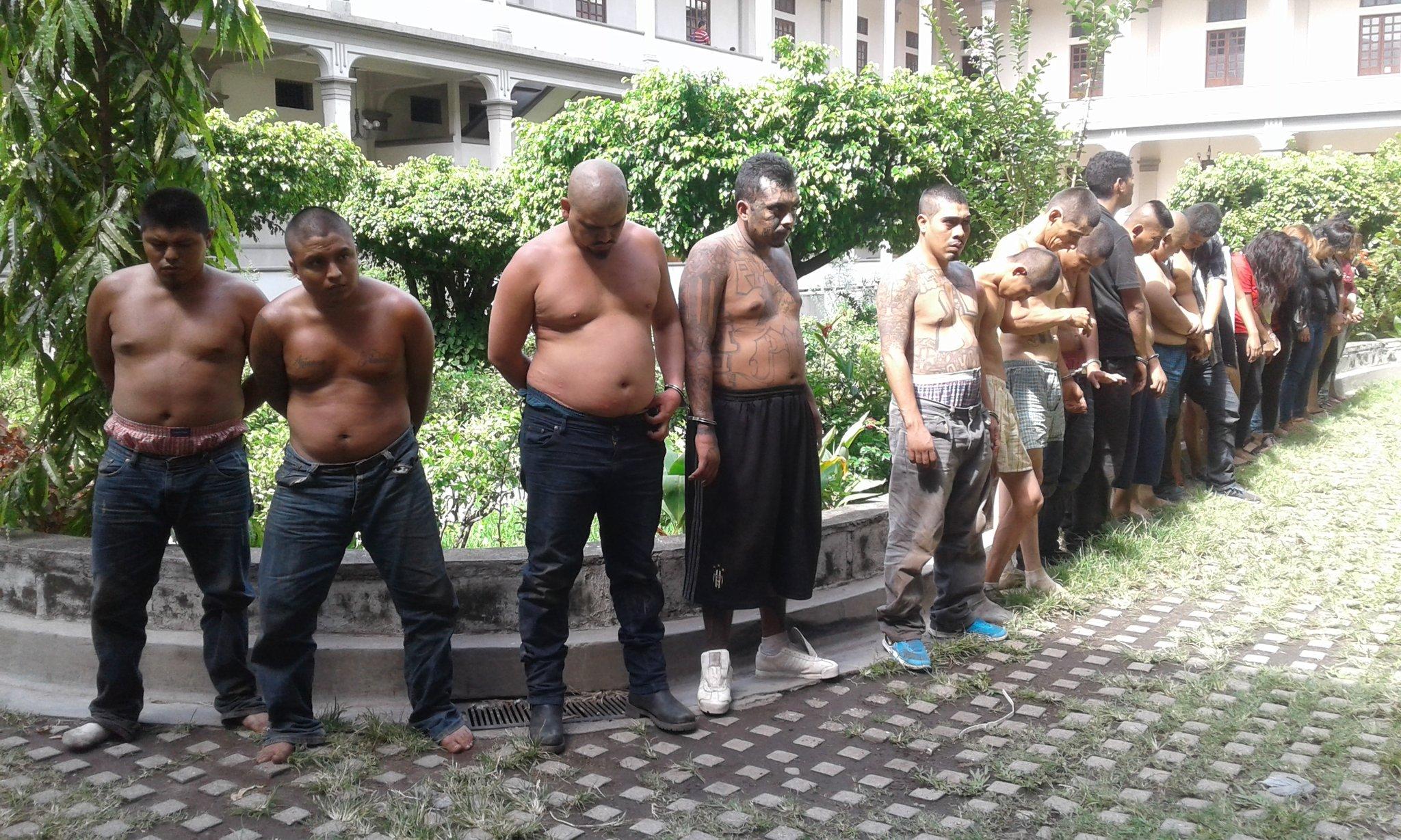 Capturan 37 miembros de pandillas en Operativos en Sonsonate