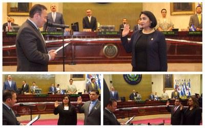 Juramentan a presidenta y magistrados de la Corte de Cuentas de la República para el período 2017-2020