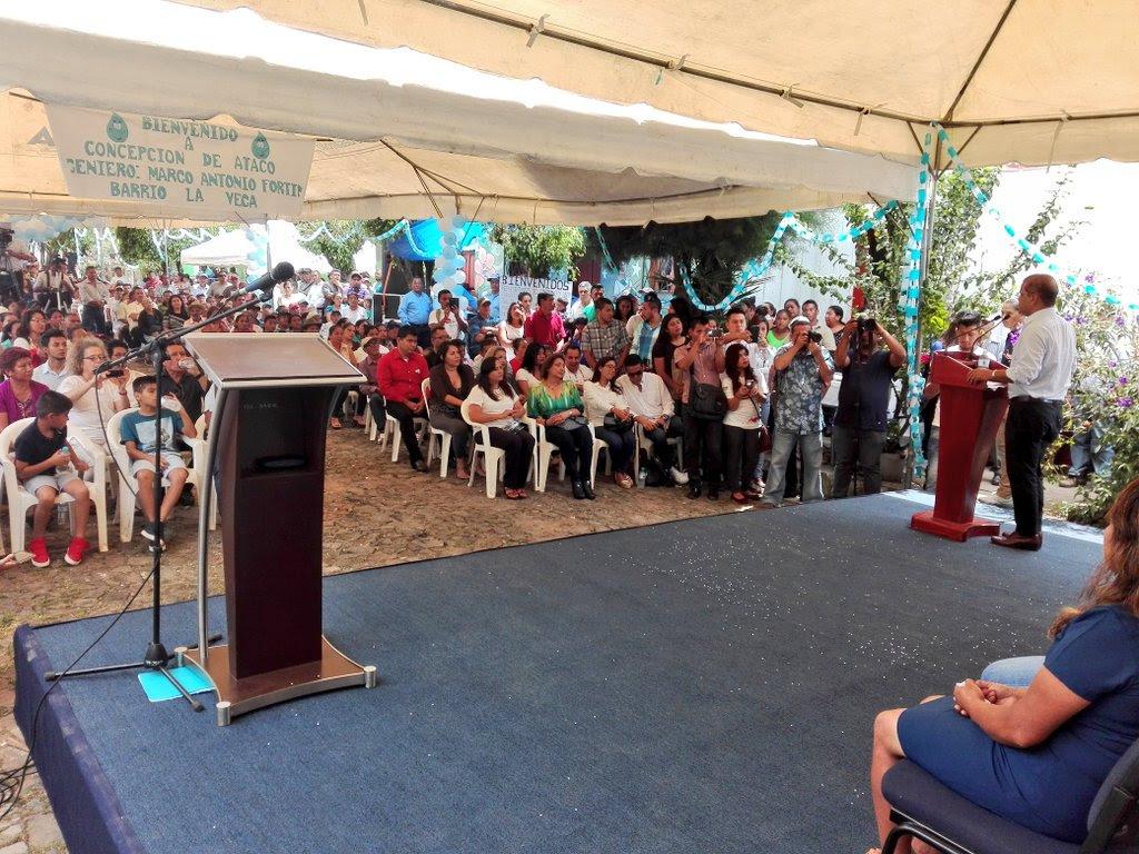 Concepción de Ataco cuenta ya con agua potable y saneamiento