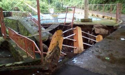 Piscinas de Apanchacal afectadas por lluvias en territorio Santaneco