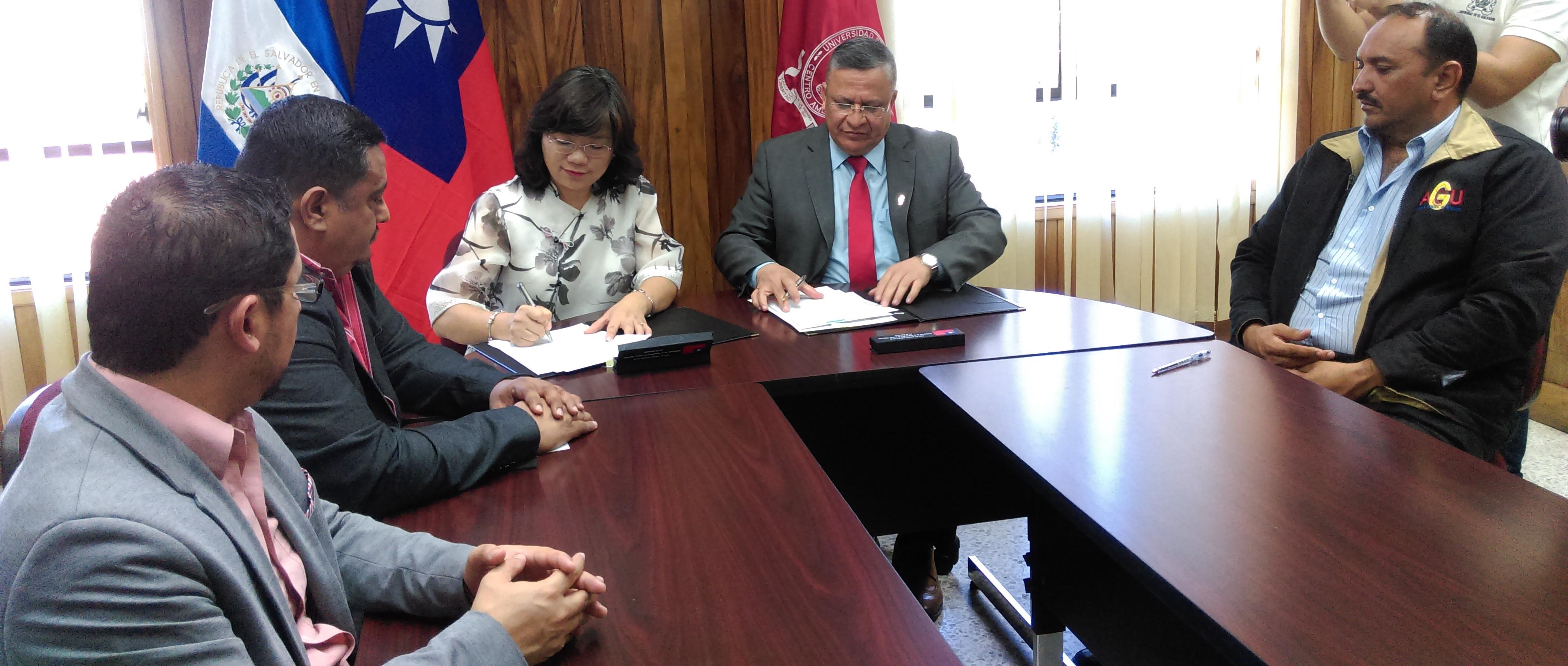 Universidad Nacional de Chengchi de Taiwán y Universidad de El Salvador firman Memorándum de Entendimiento