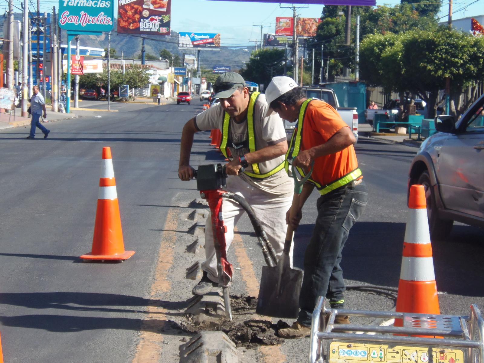 Instalan separadores de malla sobre tramo de la Avenida Independencia