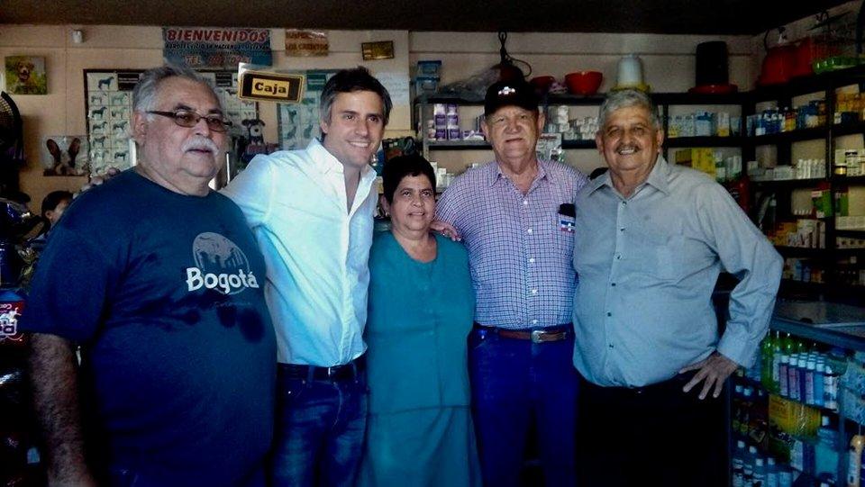 Visita de Carlos Callejas y Mario Marroquin a la ciudad de Metapán