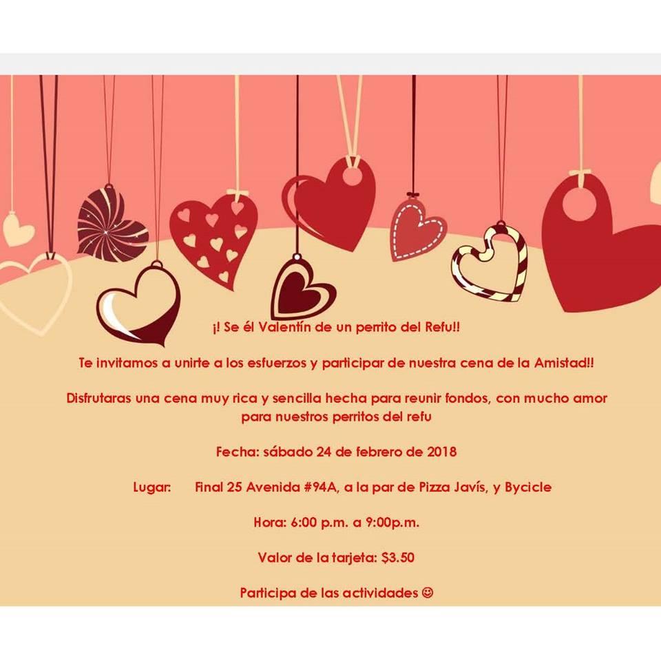 Invitación Para La Cena Típica Del Refugio Aapasa
