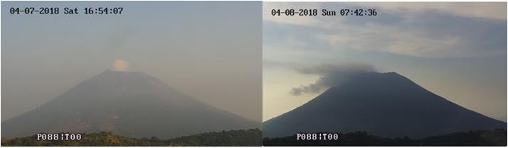 Incrementa actividad del volcán Chaparrastique