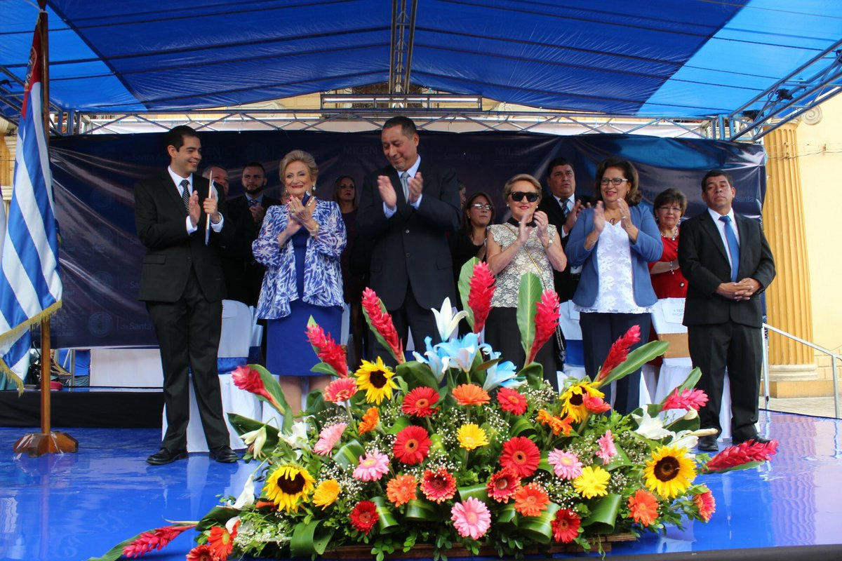 Milena de Escalón recibe el nuevo mandato de la alcaldía de Santa Ana