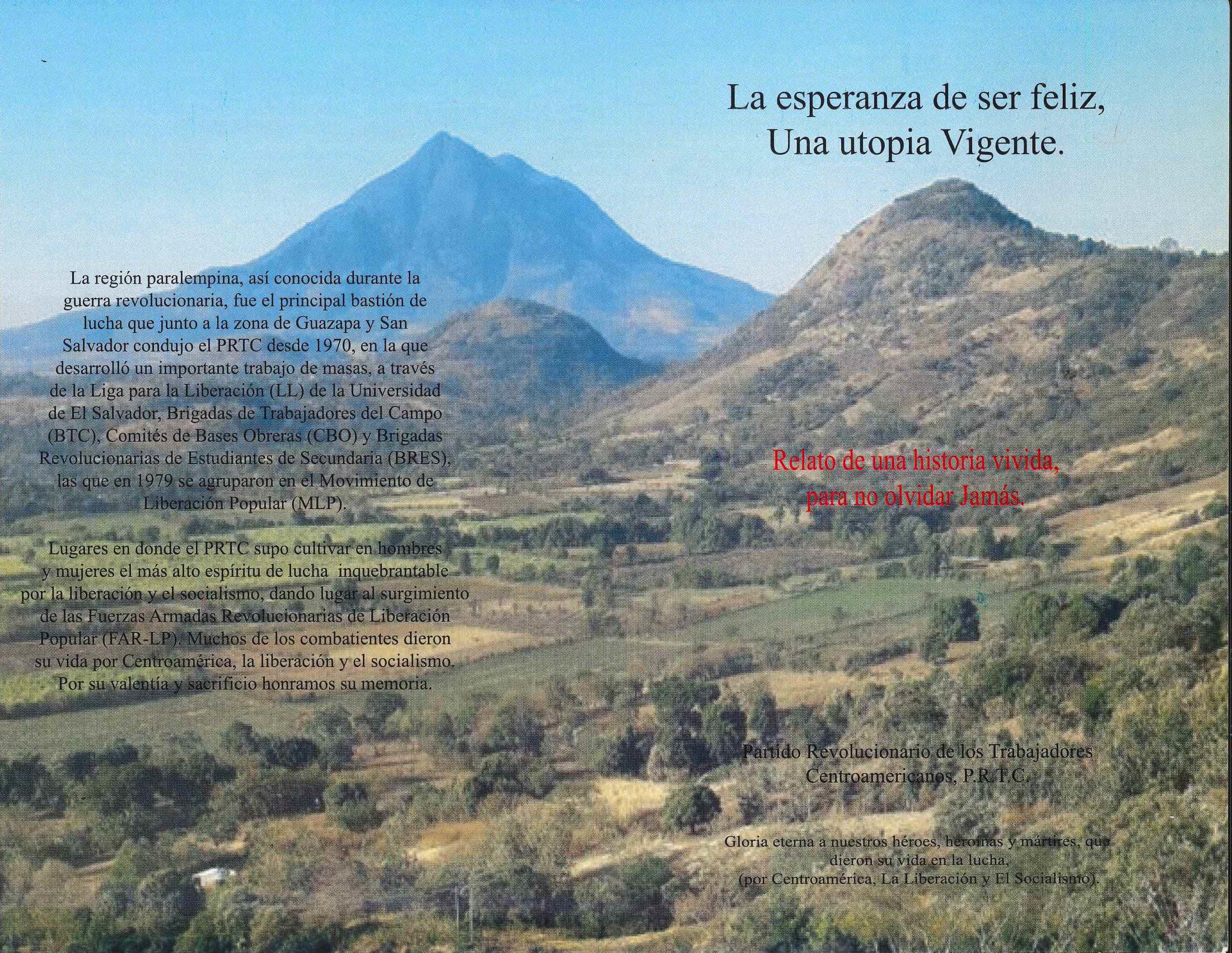 Lanzarán libro que narra experiencias vividas durante el conflicto armado en El Salvador
