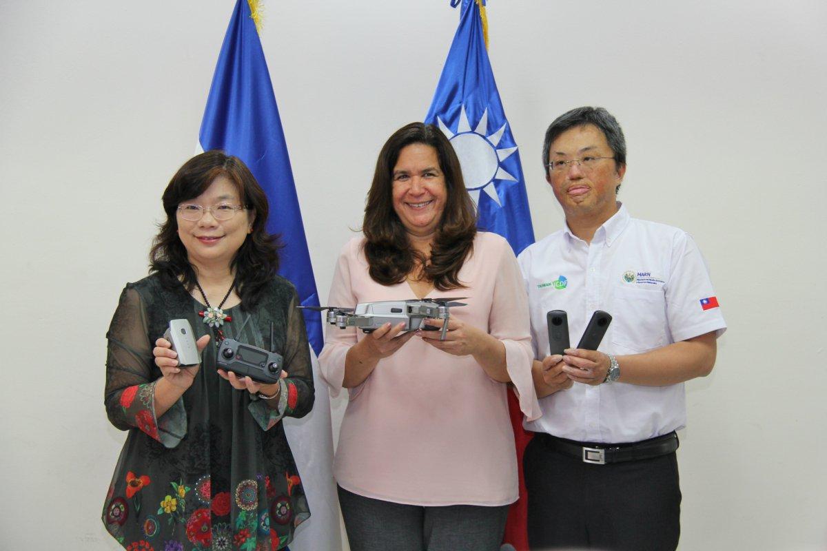 República de China (Taiwán) dona equipo y capacita al personal del MARN sobre monitoreo de cambio de uso de suelo