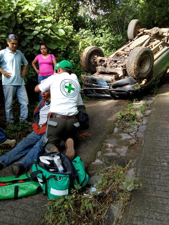 Cruz Verde atiende nuevo accidente de tránsito en El Congo