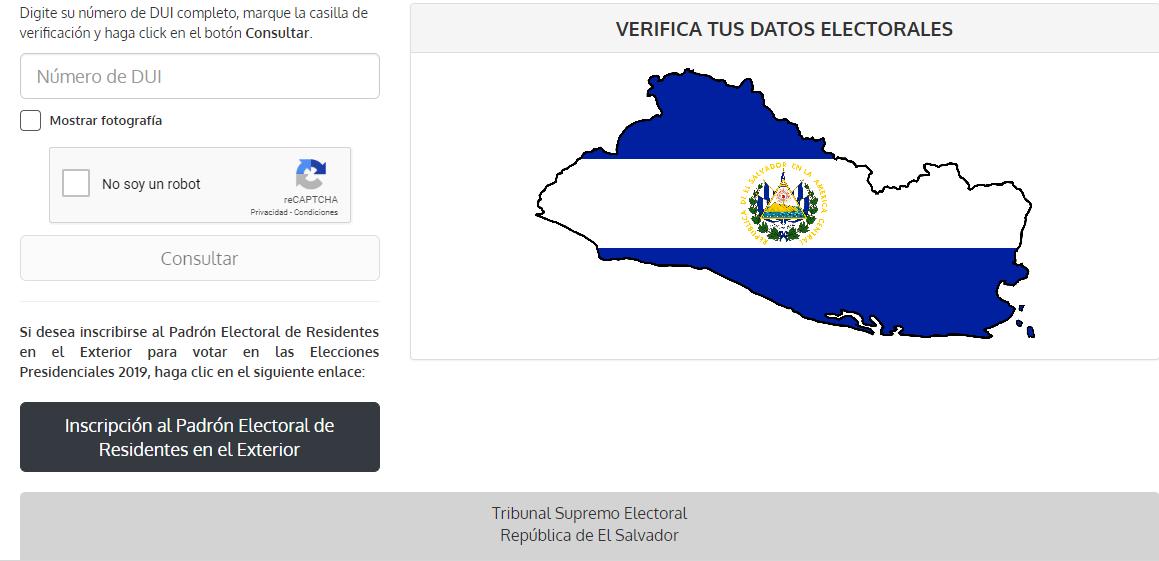 Ya puedes consultar tu centro de votación en las próximas elecciones presidenciales del 2019