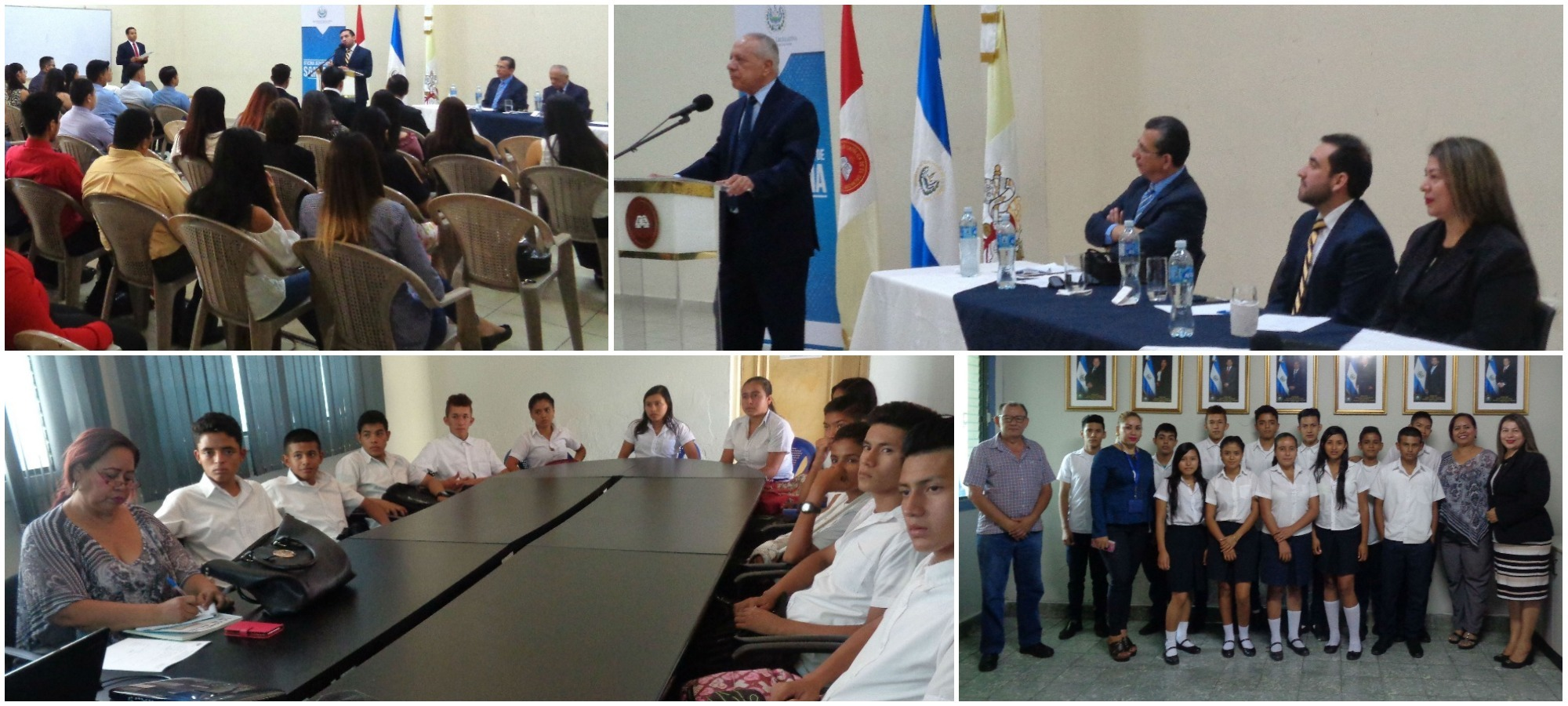 Universitarios santanecos participan en foro sobre Constitución de la República